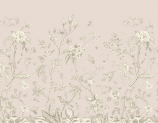 Фотообои Ветки с птицами минимализм 28362
