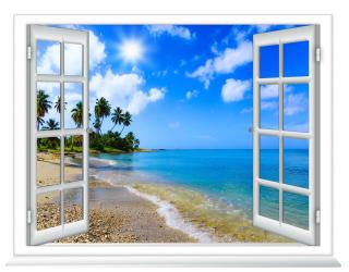 Фотообои Вид из окна на море 20247