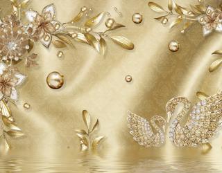 Фотообои  Золотые листья 22250