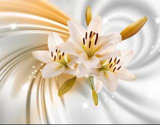 Фотообои 3d лилии 18791