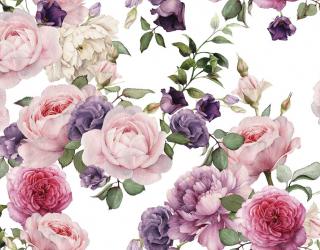 Фотошпалери рожеві і фіолетові квіти малюнок 20950