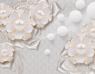 Фотообои Цветы с жемчужинами 20202