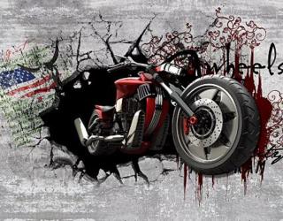 Фотообои Мотоцикл из стены о_16298390