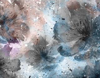 Фотообои Абстрактные цветы 24359