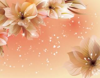 Фотообои 3D волшебные цветы  16998