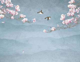 Фотообои Птицы и магнолия 28763