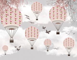 Фотообои Розовые воздушные шары 24080