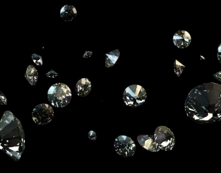 Фотообои алмазы в воздухе 20949