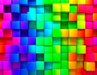 3д фотообои Цветная мозаика 2971