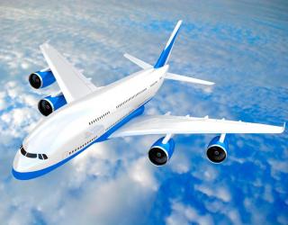 Фотообои Самолет в облаках 1170