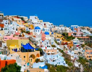 Фотообои о. Санторини, Греция 8027