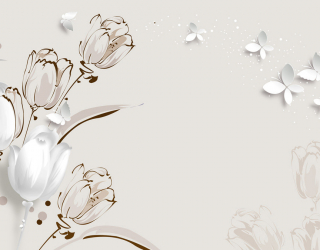 Фотообои  Векторные тюльпаны 22323