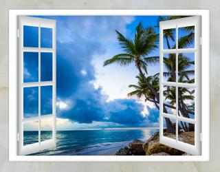 Фотообои Вид из окна на море 20243