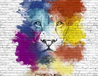 Фотообои Акварельный лев 24200
