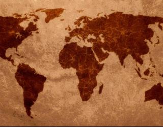 Фотообои Материковая карта 0294