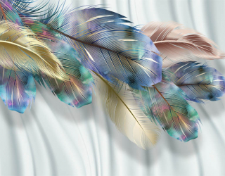 Фотообои Яркие перья 29321