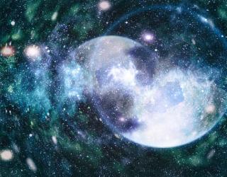 Фотообои Космические планеты на потолок 22524