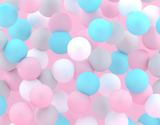 Фотообои Разноцветные шары 22830