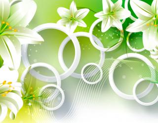 Фотообои Зеленые лилии 20012