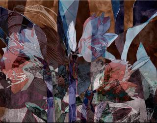 Фотообои Абстрактные цветы 24251