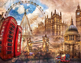 Фотообои Принте Лондон 22315