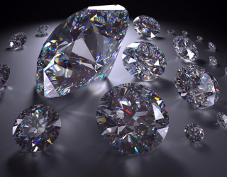 Фотообои алмазы на сером фоне 3Д 21139