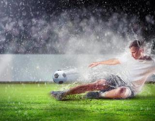 Фотообои Игра под дождем 13747