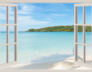 Фотообои Вид из окна на море 20233
