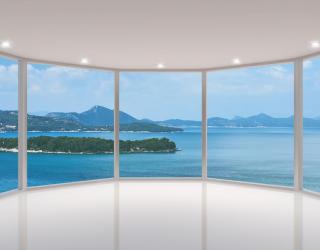 Фотообои Море и острова в окне 20716