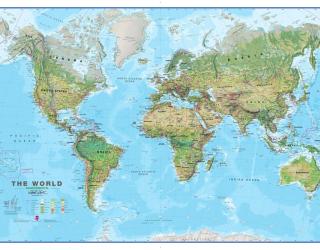 Фотообои Вся карта мира 20270