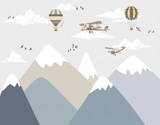 Фотообои Горы и самолетики 24084