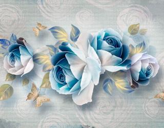 Фотообои Синие цветы 20178