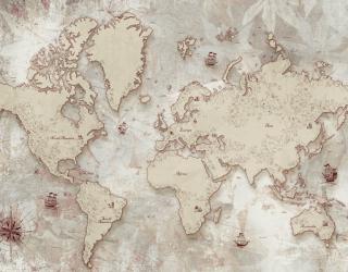 Фотообои 3д карта мира 28348