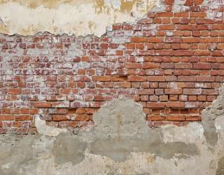 Фотообои Старая кирпичная стена с побелкой 20248