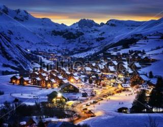 Фотообои Лыжный курорт 223223488