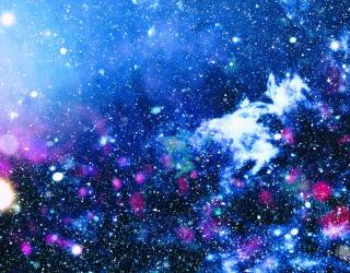 Фотообои голубо-синий космос 21106