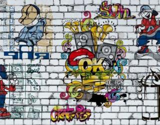 ФотообоиСтена с графити о_15796863