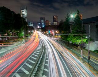 Фотообои Дорога в мегаполисе 22822