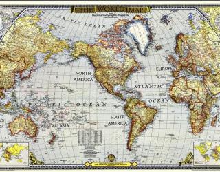 Фотообои Винтажная карта а114