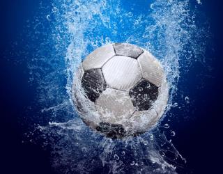 Фотообои Мяч в воде 12919