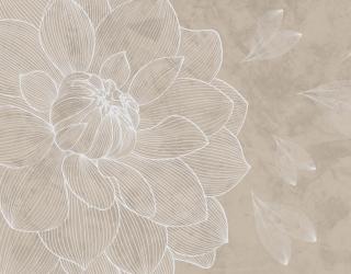 Фотообои Бежевый векторный цветок 24029_1