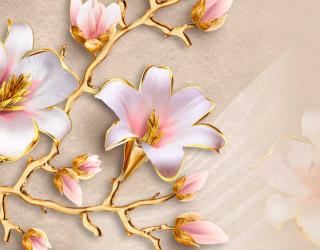Фотообои 3D цветы  17617