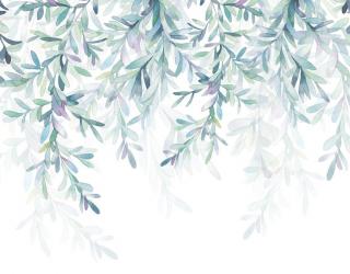 Фотообои Принт с листьями 22348