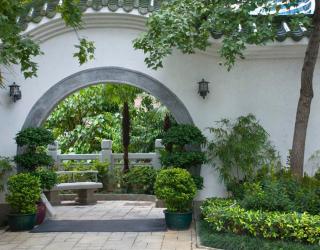 Фотообои Арка в саду 1568