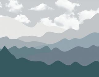Фотообои Серые горы 24089