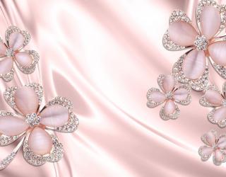 Фотообои  Розовые брошки 22178