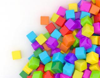 Фотообои цветные кубики 21526