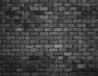 Фотообои Черная кирпичная стена 20230