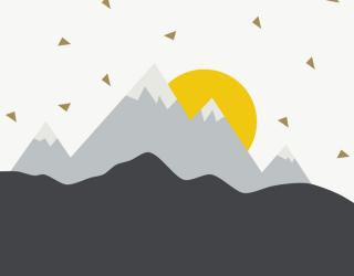 Фотообои Горы солнечные 24072