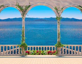 Фотообои Арки с видом на море 11814